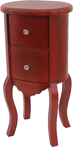 Teton Home AF-065 Accent Table, 29 H x 15 W x 12 L, Red