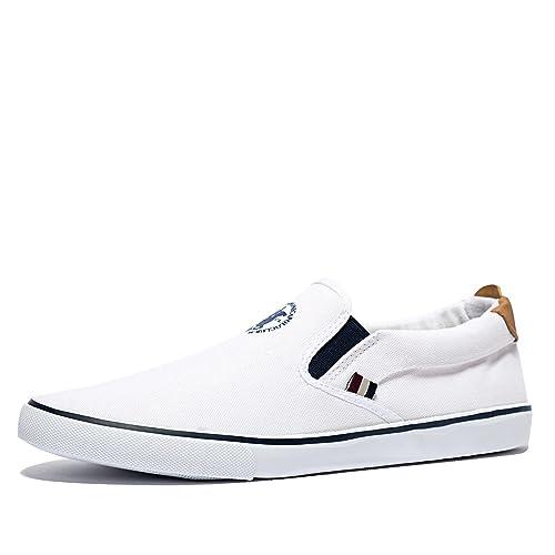 Santa Monica Polo Club - Zapatillas para Hombre Blanco Blanco 41 ...