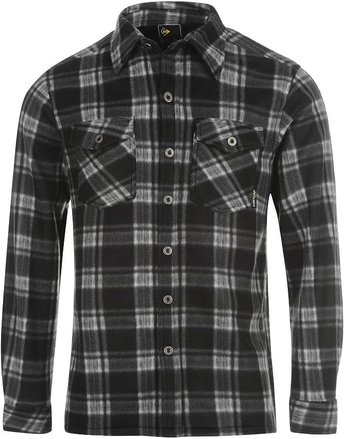 Dunlop - Camisa casual - Cuadrados - Manga Larga - para hombre ...