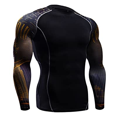 Men's Long Sleeves Athletic Compression Shirts Activewear Sports T-Shirt