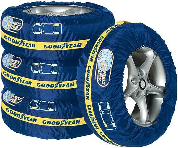 Goodyear 75526 Premium Reifentaschen Set Reifenschutzhülle 4 Teilig Wasserabweisend Waschbar Schwarz Rot Für Sauberen Transport Und Sichere Aufbewahrung Baumarkt