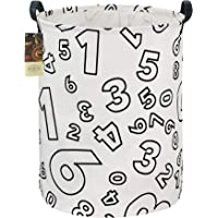 HUNRUNG Large Canvas Fabric Lightweight Storage Basket Toy Organizer Dirty Clothes Collapsible Waterproof for College…