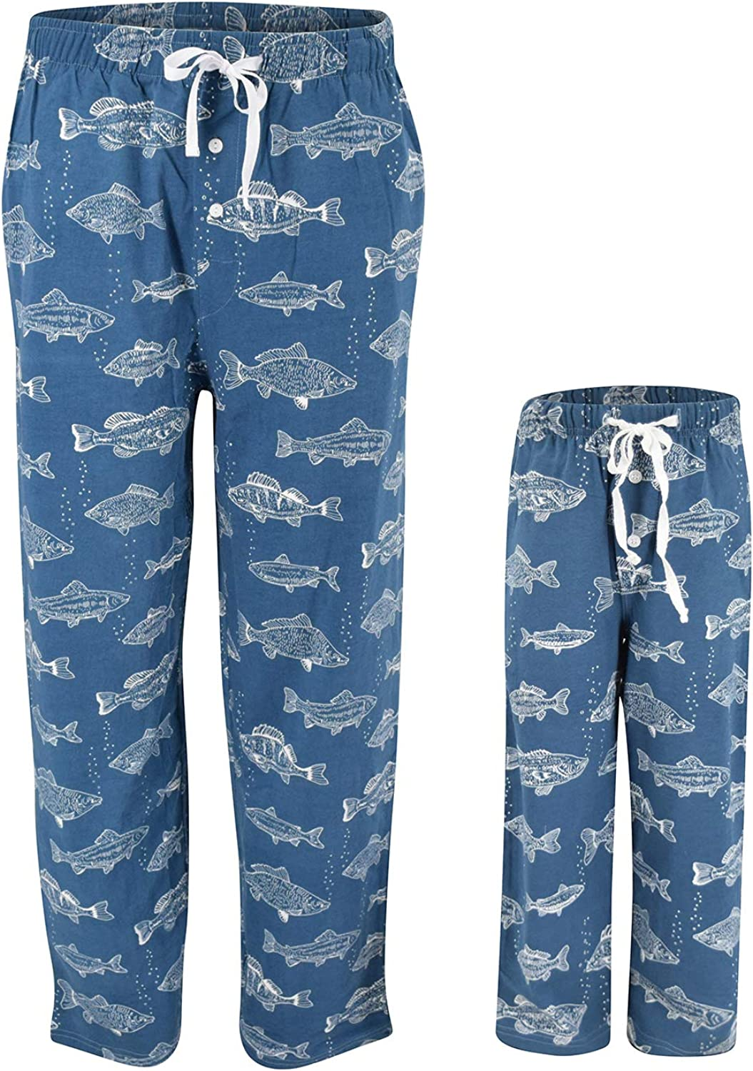UB Fisherman Print Matching Family Father's Day Pajama Pants