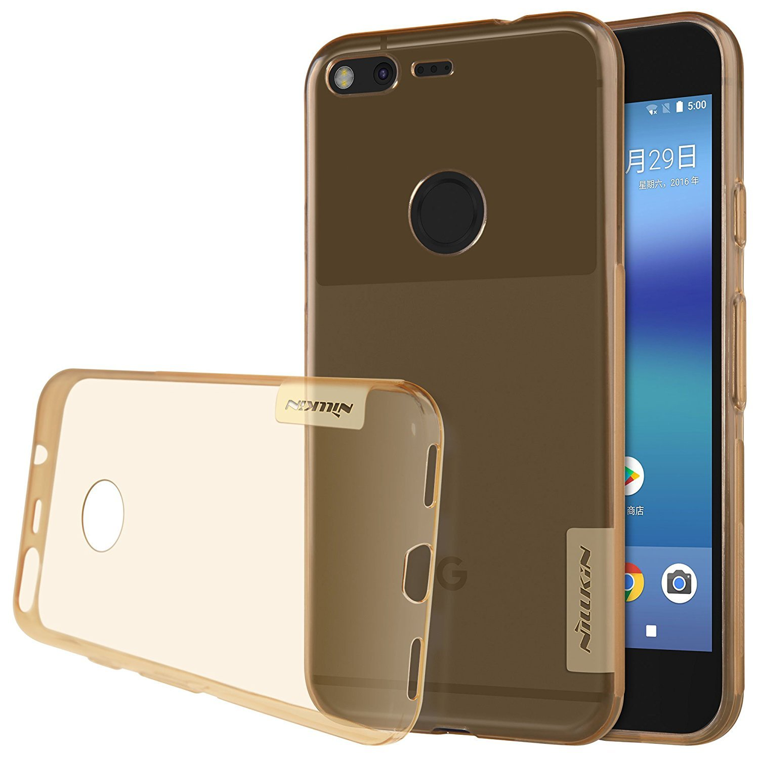 For Google Pixel Xl Case Nillkin Nature Series Clear Silikon Soft Samsung Galaxy S8 Plus Ultrathin Original Tpu Back Cover Ultra Thin Slim Fit 2016 Brown Cell