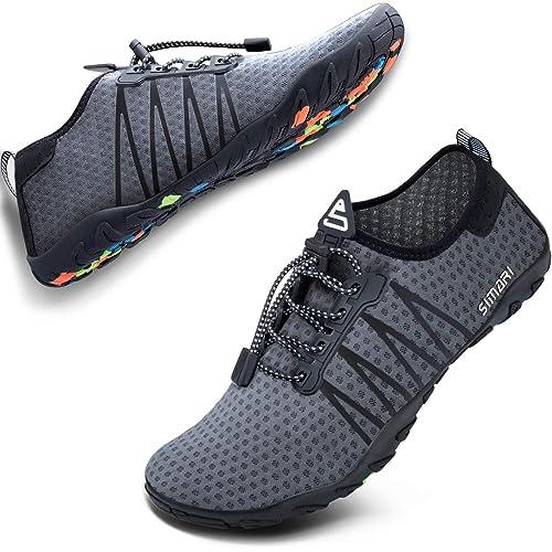 Amazon.com: SIMARI Zapatillas de Agua para Hombre, Deportes ...