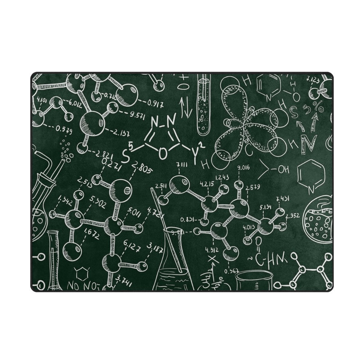 Vantaso Soft Foam Area Rugs Science Chemistry Math School Non Slip Play Mats 80x58 inch for Kids Playing Living Room