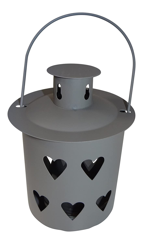 Set di pezzi in metallo esterno giardino Lanterna Luce con decoro cuore