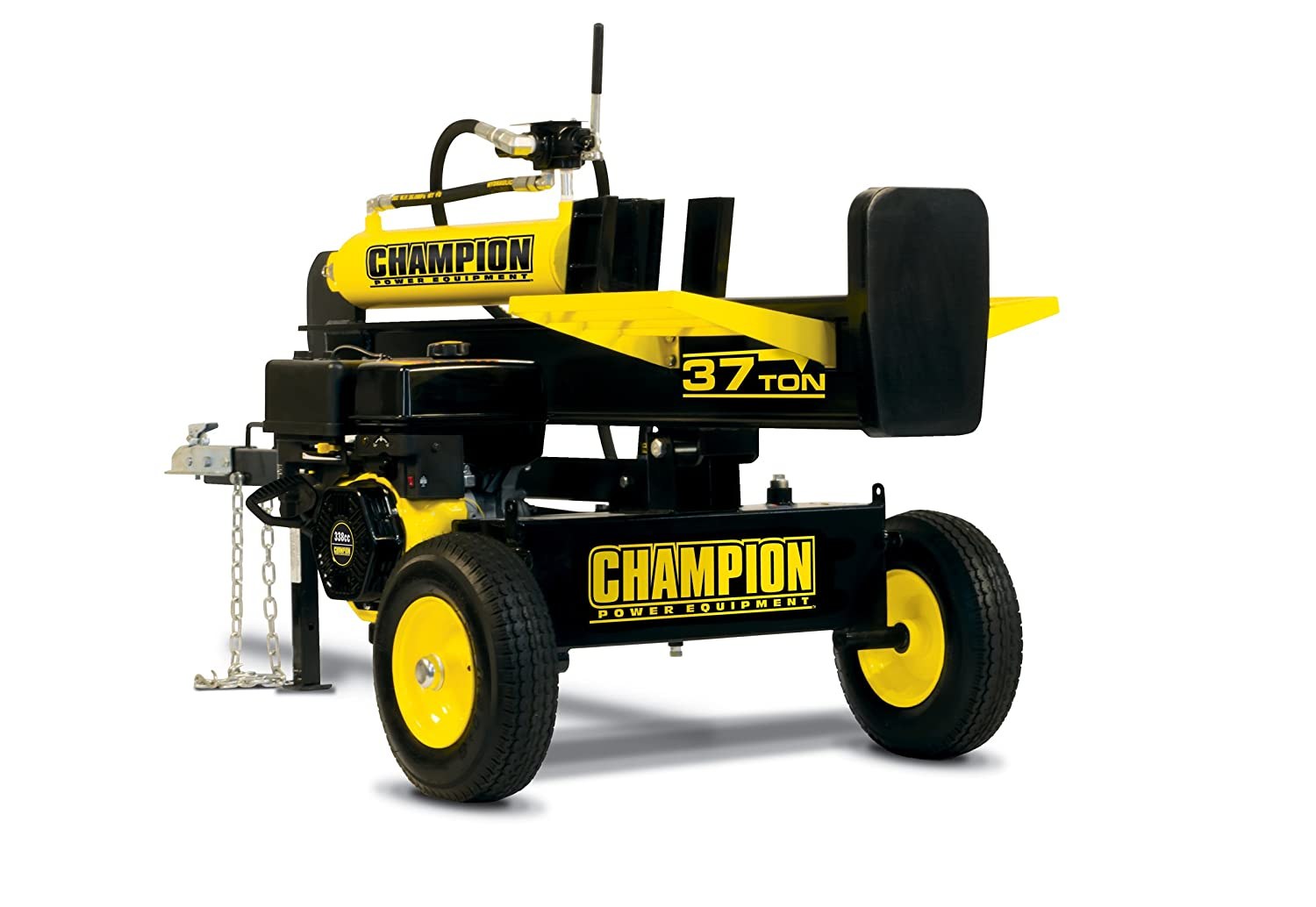 best log splitter -  Champion 37-Ton Horizontal/Vertical Full Beam Gas Log Splitter with Auto Return