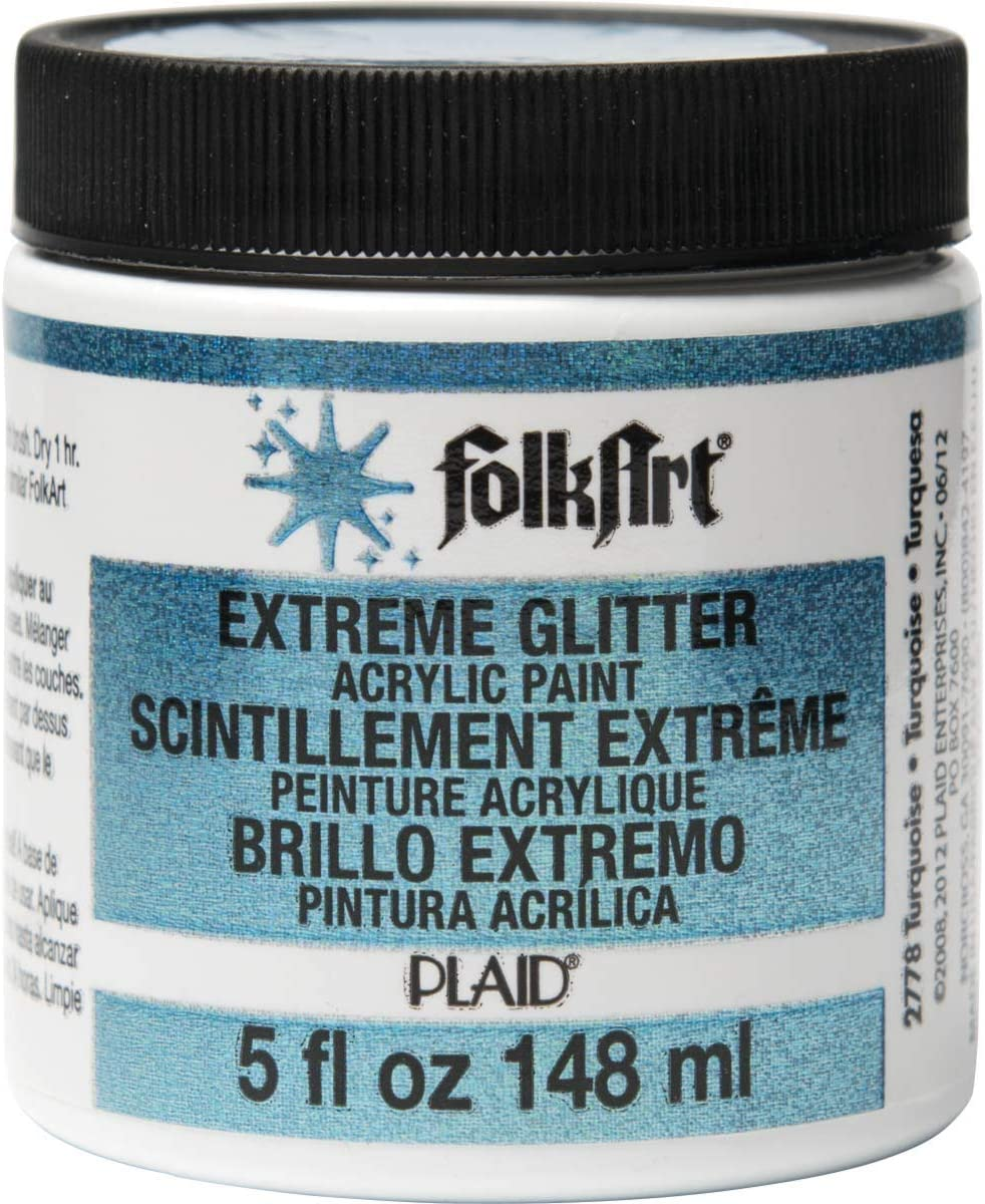 FolkArt Extreme Glitter Acrylic Paint in Assorted Colors (5-Ounce), Turquoise