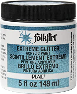 product image for FolkArt Extreme Glitter Acrylic Paint in Assorted Colors (5-Ounce), Turquoise