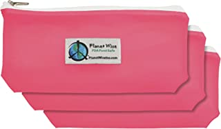product image for Planet Wise Reusable Tinted Zipper Snack Bag 3-Pack - Pink