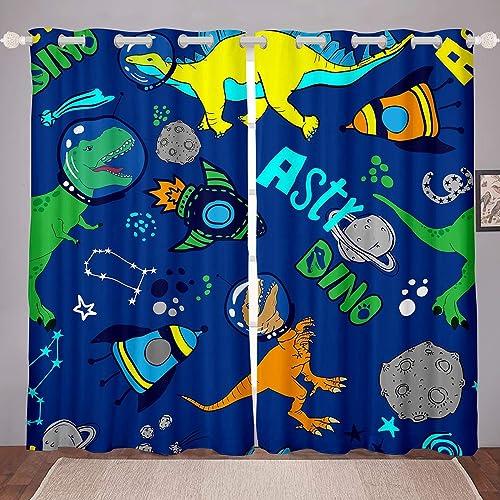 Castle Fairy Astronaut Space Dinosaur Window Curtains Spaceship Christmas Curtain Panels Window Treatments Room Darkening