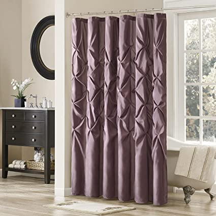 Madison Park Laurel Polyester Shower Curtain Color Plum Violet