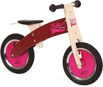Janod - Bikloon Bicicleta sin Pedales, Color Rosa y Burdeos ...