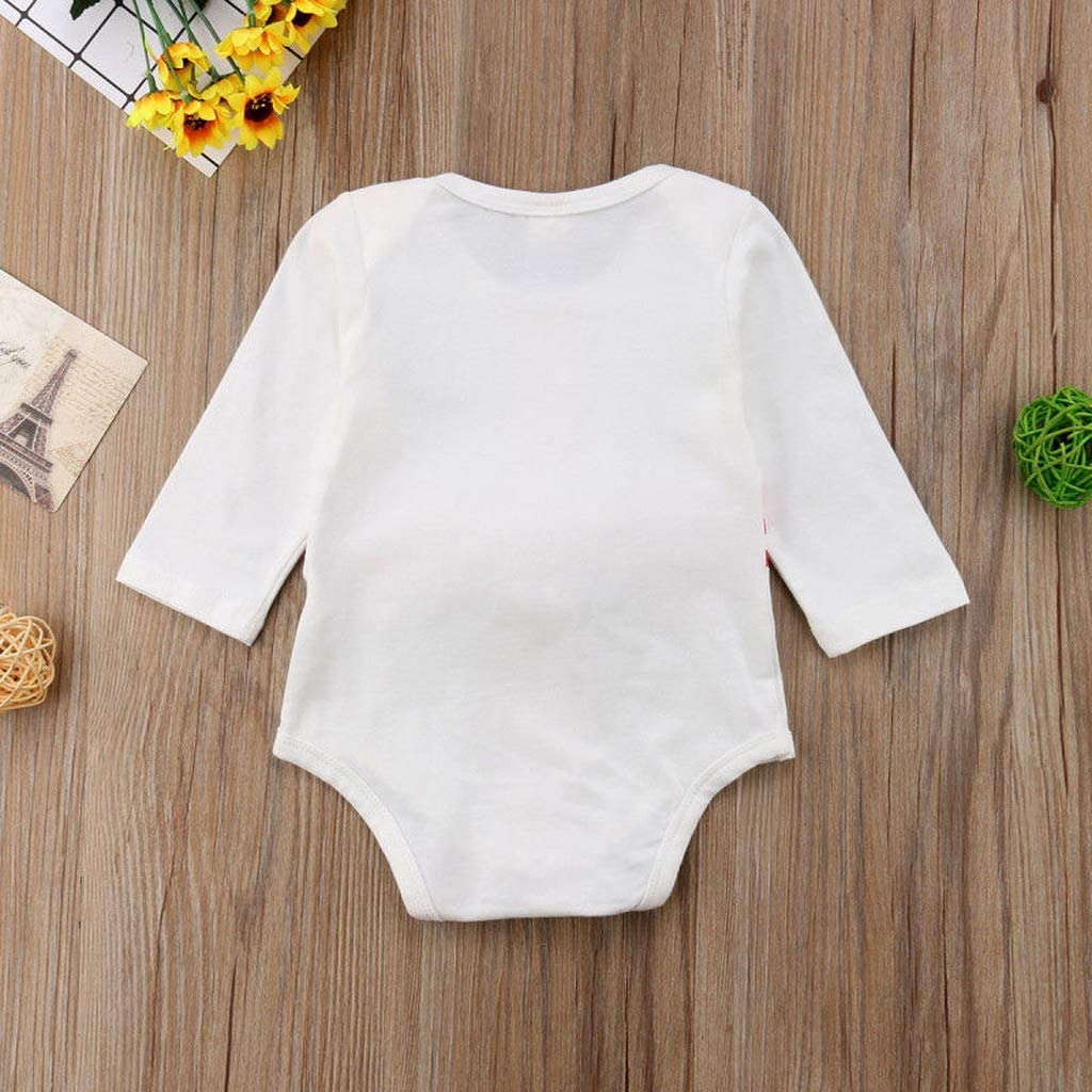 Bone Newborn Toddler Baby Girls Boys Clothes Striped Long Sleeve Bow Jumpsuit Round Neck Cotton Kids Bodysuit Multi,6M B