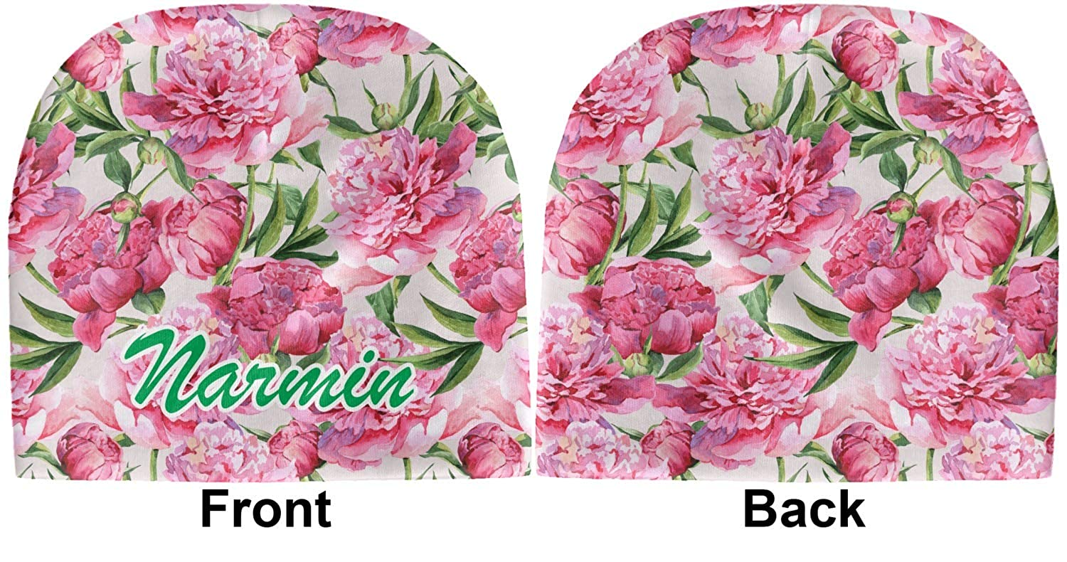 Beanie Personalized YouCustomizeIt Watercolor Peonies Baby Hat Green