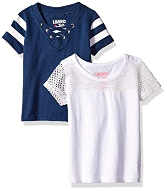 62bb85c5 Amazon.com: Limited Too Girls' 2 Pack Athletic Tie and Mesh T-Shirt ...