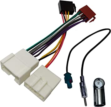 AERZETIX - Adaptador cable - Enchufe ISO - Para antena de autoradio