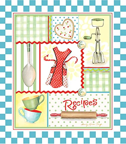 Recipe Binder Set With Plastic Page Protectors And Cards Retro Aprons