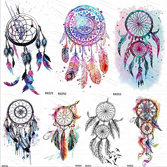 Tatuajes Temporales Adultos Dream Catcher Acuarela Tatuajes ...