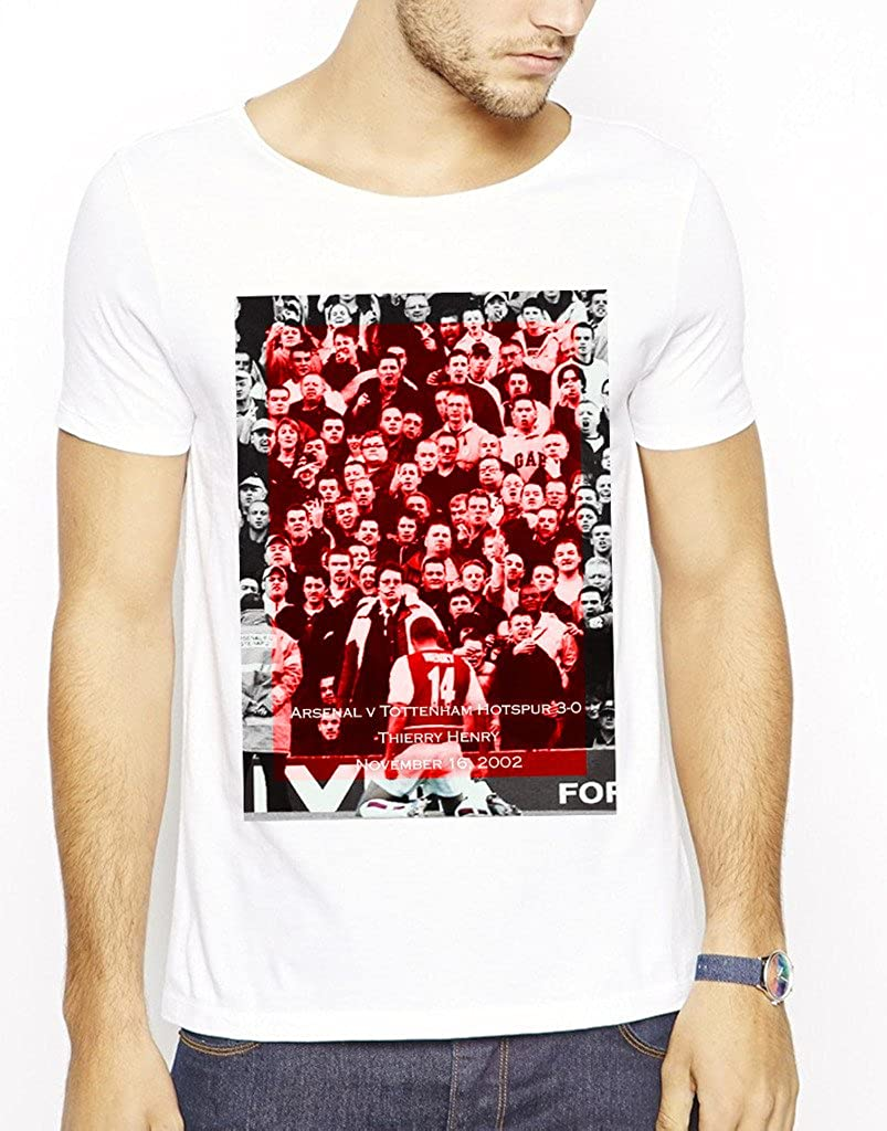 online store b4125 5be20 642 Stitches Men's Arsenal Thierry Henry Celebration T-Shirt ...