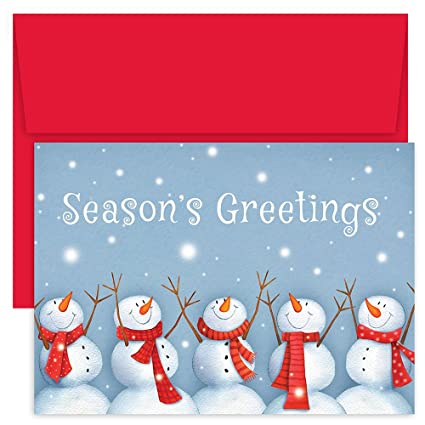 Amazon great papers holiday greeting card happy snowmen holiday greeting card happy snowmen holiday greeting card 903200 m4hsunfo