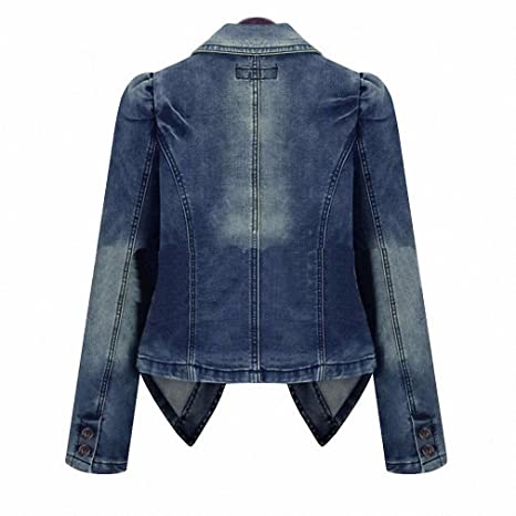 Amazon.com: Women Denim Jacket Oversize Loose Female Jeans ...