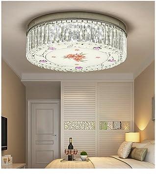 Moderne Lampe Chambre Rond Dgt Lumière En Led Plafonnier Cristal fYIgyb76v