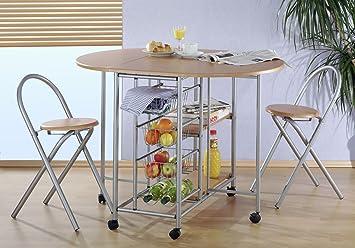 küchenbar, klappbar mit 2 stühlen - küchentisch: amazon.de: küche ... - Küche Tisch