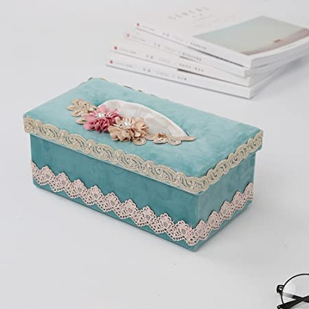 PLK cajas de pañuelos estantería de escritorio sucker caja servilleta hogar salón simple encaje Continental coche creativo European Lace Fabric Tissue Box Living Room Fami: Amazon.es: Hogar