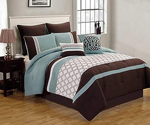 Amazon.com: Riverbrook Home Bedding Comforter Set, King, Set of 8