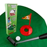 A-SZCXTOP Toilet Golf Game Sports Sets Bathroom Putter Practice Putting Toy Gag Gift