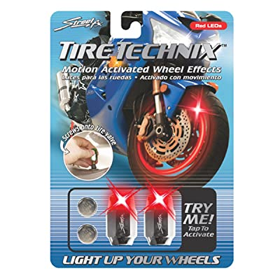 Street FX 1042197 Tire Technix Moto Hex Red Light: Automotive