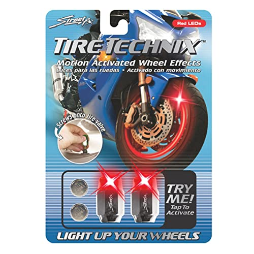 Street FX 1042197 Tire Technix Moto Hex Red Light