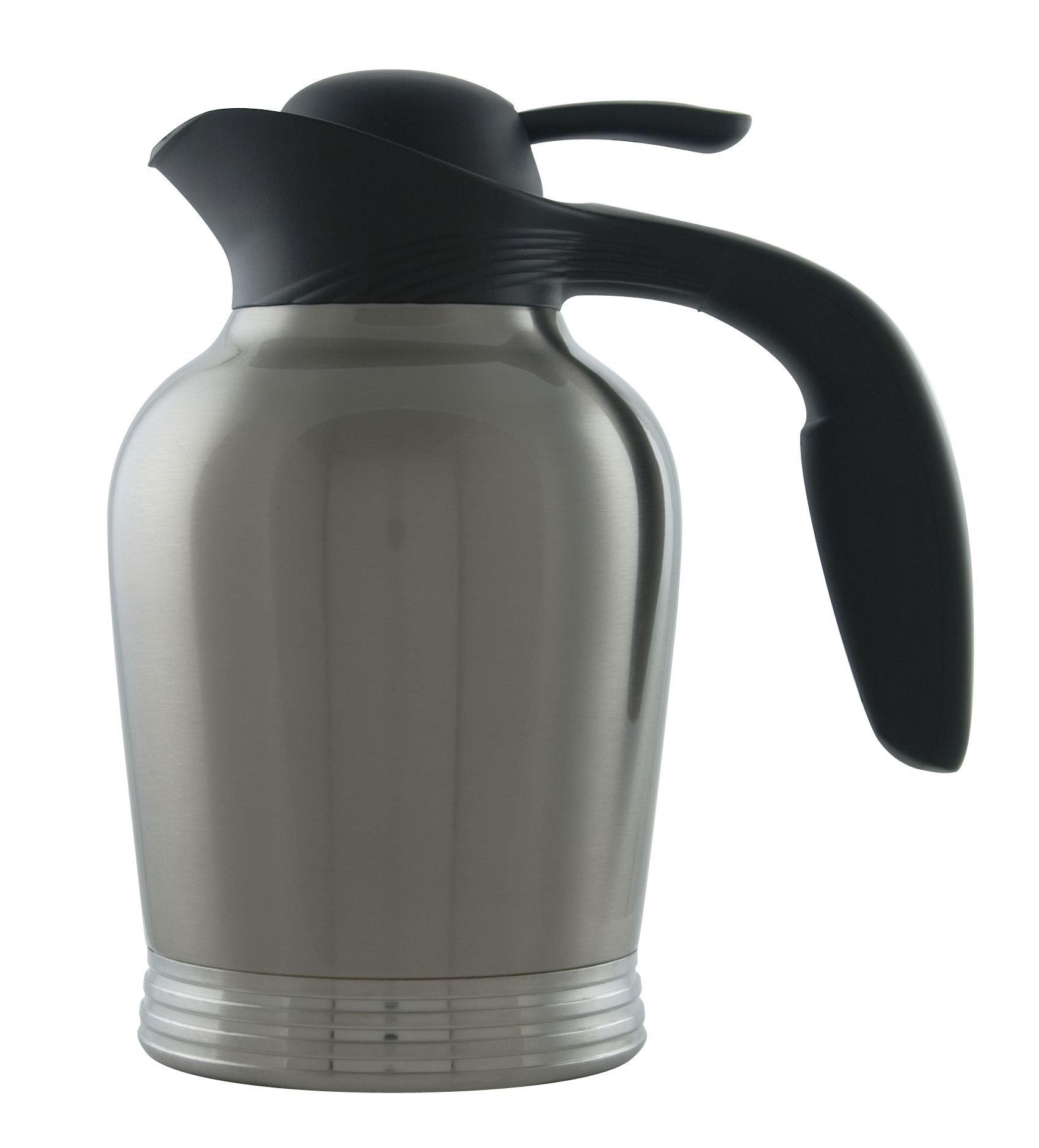 Stanley Commercial 10-00008-000 ErgoServ Carafe, 1.5 Liter (50.7 oz.), Brushed Stainless/Black