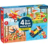 Mudpuppy Four Seasons 4-in-a-Box Puzzle Set