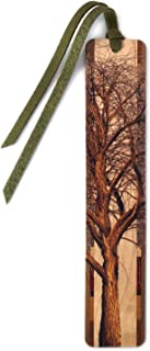 product image for Personalized Winter Willow Tree Wooden Bookmark with Suede Tassel - Search B071R31SJP to See Non Personalized Version
