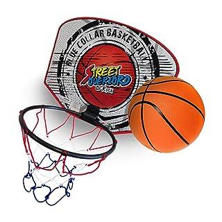 takestop® Mini TABELLONE CANESTRO 18cm + Palla Basket con Rete da Muro Parete Pallacanestro Bambini Sportivo Giocattolo Fantasia Casuale