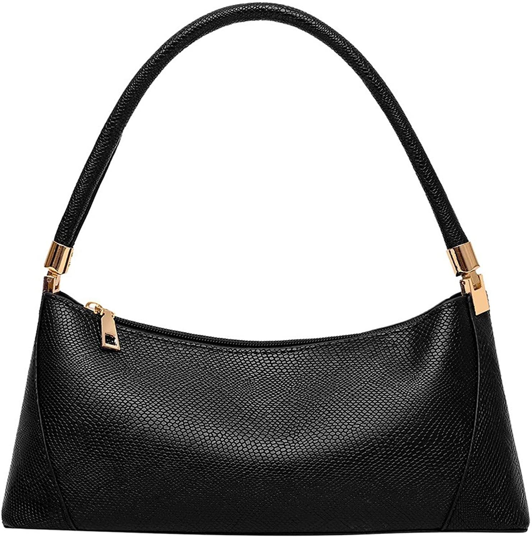 Women Snake Printed Baguette Handbag Baguette Shoulder Bag Pu Leather Handbags Tote Bag Handbags