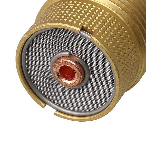 BQLZR 50 x 23 mm Golden Copper Collet Body Gas Lens for Tig Solding Linterna 3.2 mm 1/8