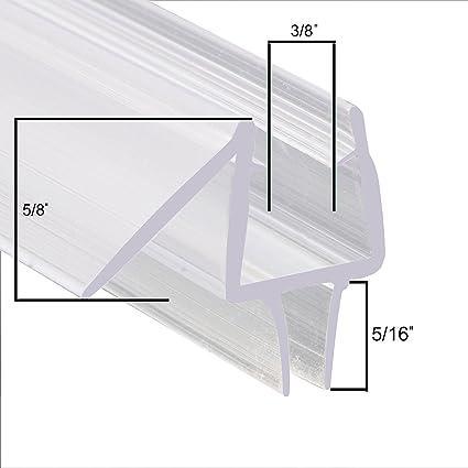 Sunny Shower Pre Cut 28 Length Frameless Shower Door Sweep Bottom