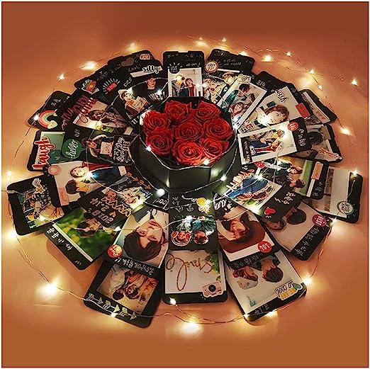 Baby Shower Travelling YESZ DIY Surprise Photo Box,Multilayer Photo Album Scrapbook Memory Book Valentine Birthday Gift for Anniversary Wedding