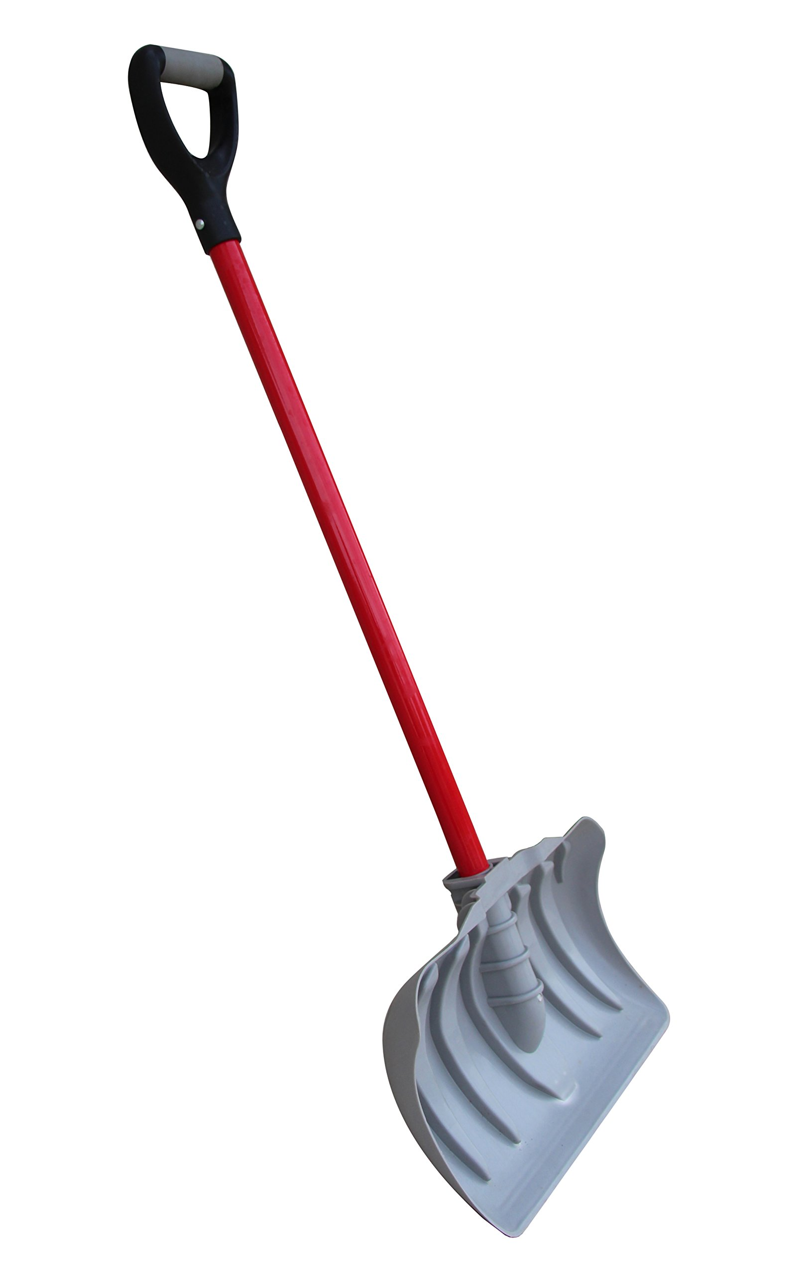 TABOR TOOLS Snow Pusher with Fiberglass Handle, 18 Inch Wide Blade, Snow Shovel with Comfortable D Grip Handle. J219A. (Snow Pusher, Long 35 Inch Handle)  by TABOR TOOLS
