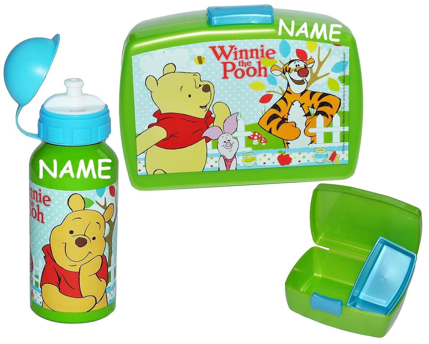 2 tlg. Set: Brotdose + Trinkflasche - Disney Winnie the Pooh Bär ...