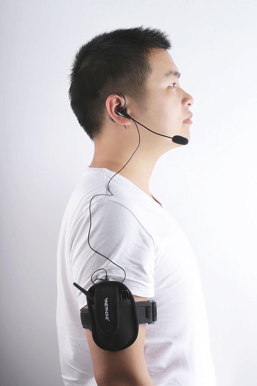 Arm Bolsa //1200m de Alcance V6C Intercomunicador Bluetooth Motocicletas,Intercomunicador de Casco,Casco Auriculares para /Árbitro Deportivo
