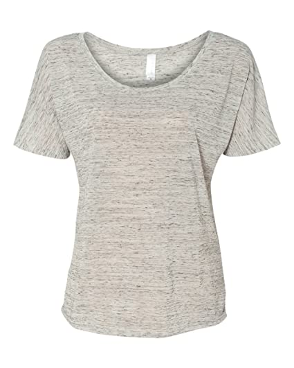 3f36039a Bella + Canvas Women'S Slouchy Tee (White Marble) at Amazon Women's ...