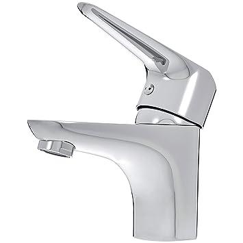 Das Waschbecken.Amazonbasics Kurze Standard Mischbatterie Für Das Waschbecken Polierter Chrom