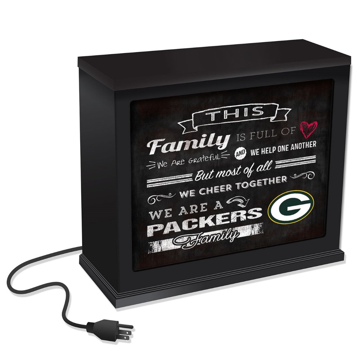 KH Sports Fan 1012100618 9.75x7.75 Green Bay Packers Family Cheer Acrylic NFL Art Plaque