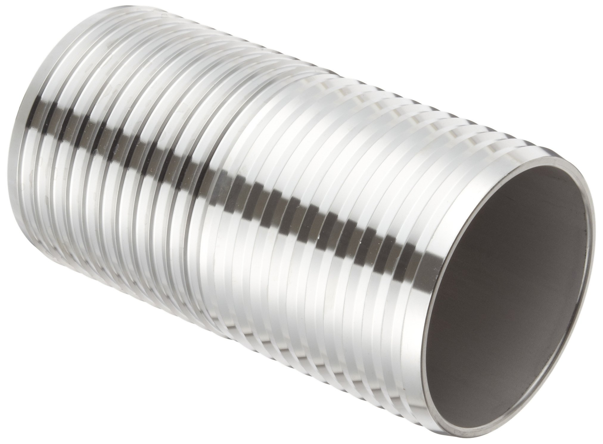 Dixon RDM46 Stainless Steel 316 Shank/Water Fitting, Mender, 4'' Hose ID Barbed, 7-3/8'' Length