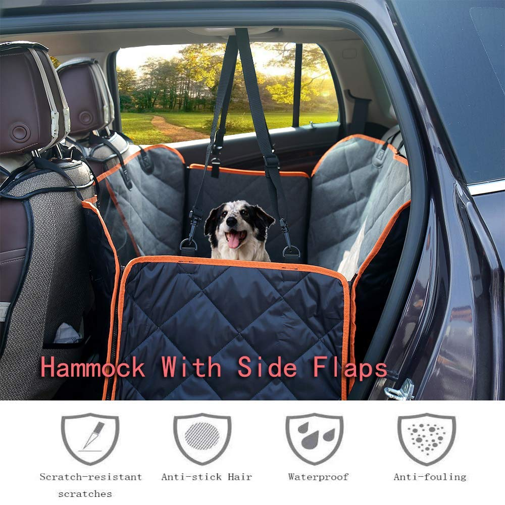Black Universal Size Durable Waterproof 2Pack Car Seat Covers for Baby Child Car Seats Dog Mats Under Car Seat with Padded to Protect Automotive Seat Mandzixin Car Seat Protector